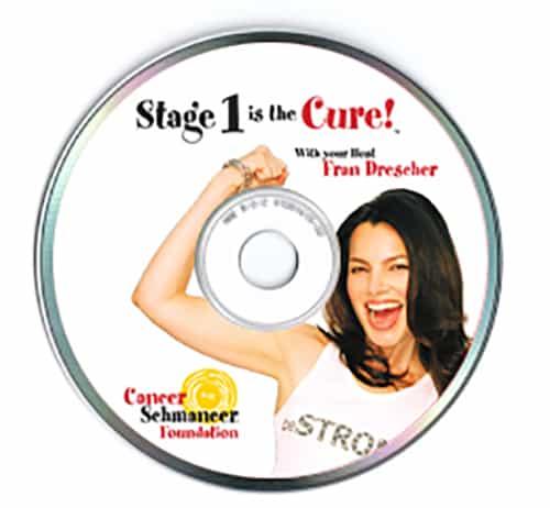 Cancer Schmancer Fran Drescher -packaging design - DVD - by ArmenoDesign.com