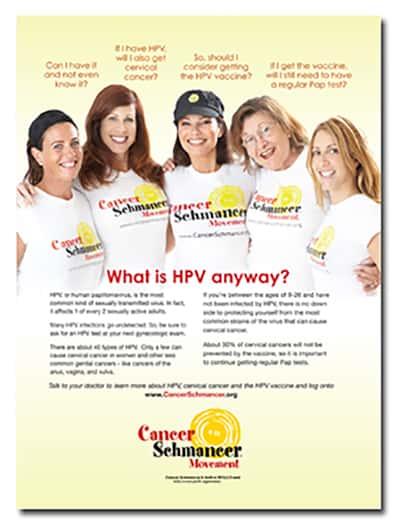 Cancer Schmancer Fran Drescher -print advertising - by ArmenoDesign.com
