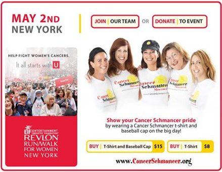 Cancer Schmancer Fran Drescher - website promotion - by ArmenoDesign.com