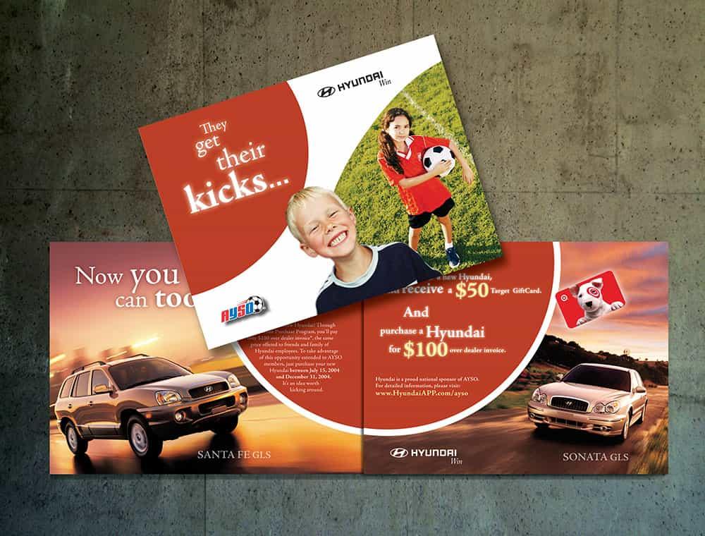 Hyundai - AYSO - brand design - direct mail - by ArmenoDesign.com