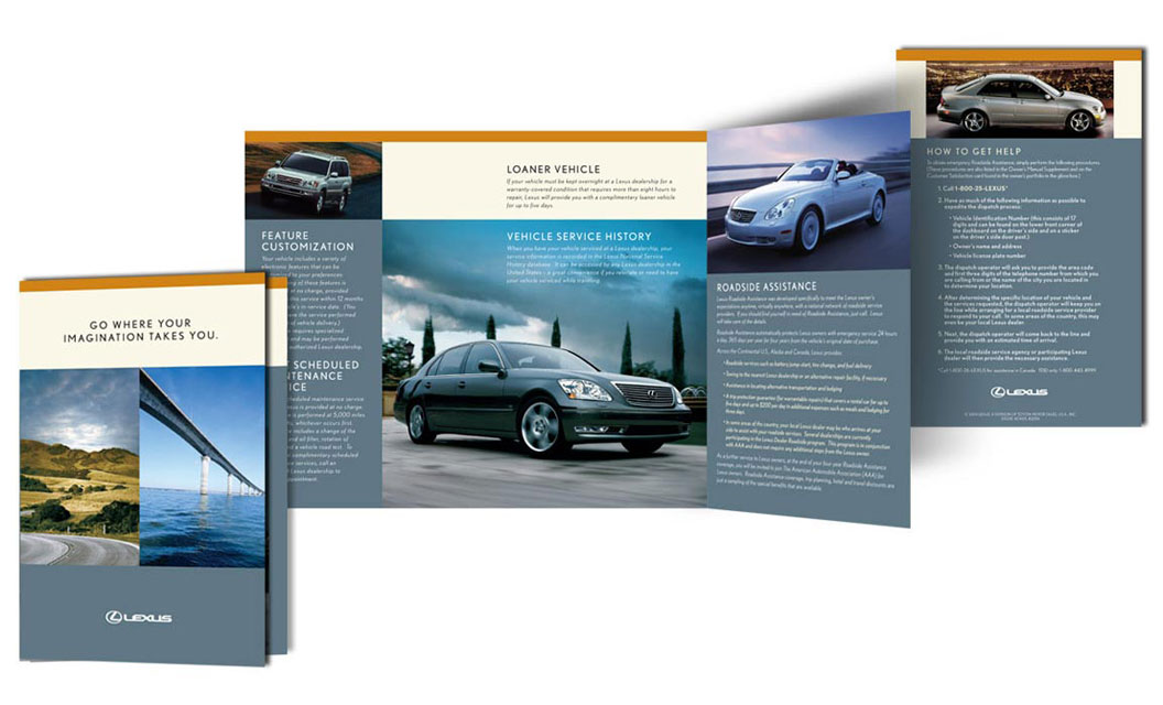 Lexus brochure by ArmenoDesign.com