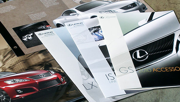 Lexus - collateral design - brochures - accessories sales guide - Armeno Design