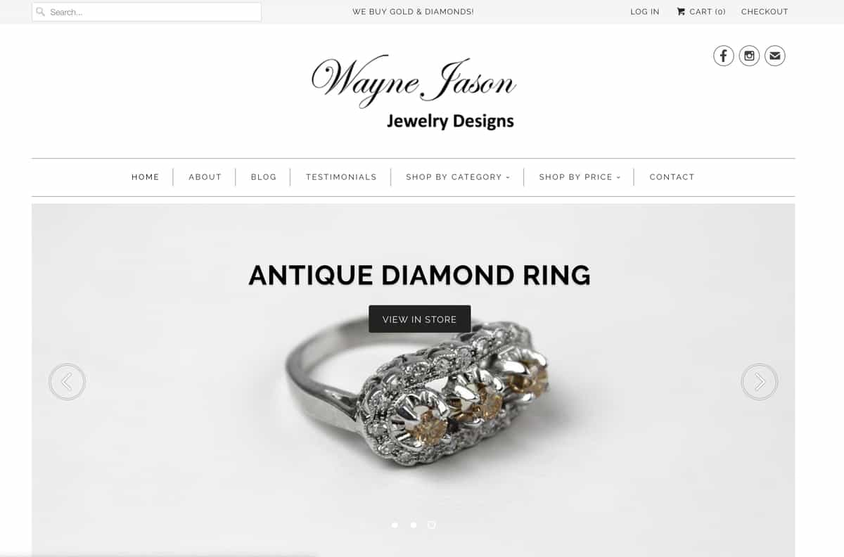 Wayne Jason Jewelry Designs - website design by ArmenoDesign.com