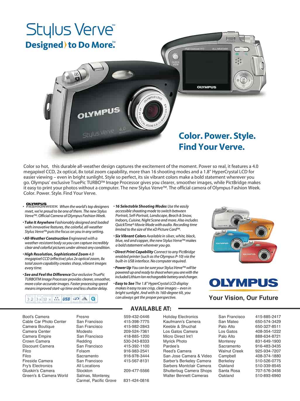 Olympus print advertising by ArmenoDesign.com