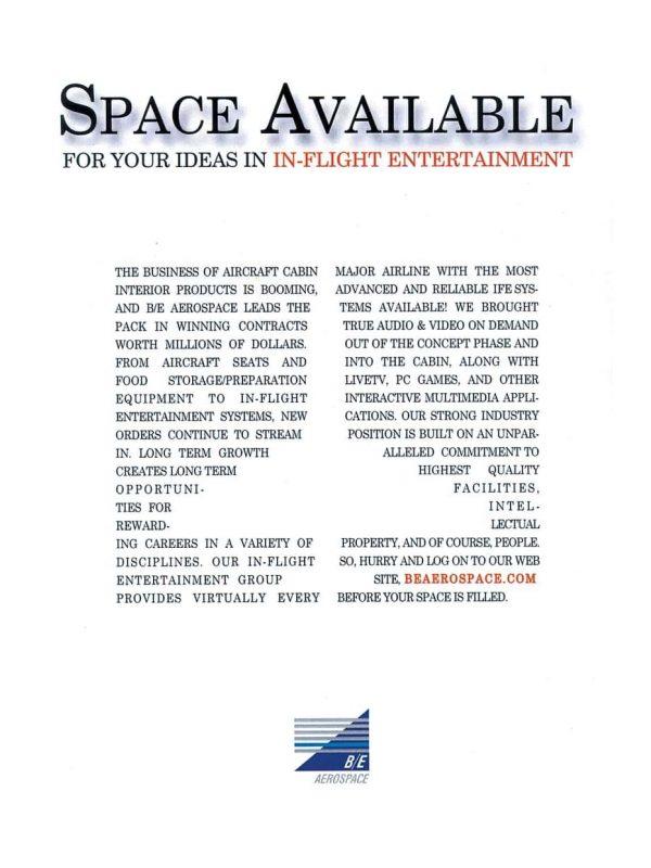 BEAerospace print ad by ArmenoDesign.com