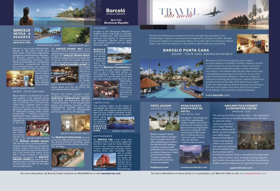 Travel & Lifestyle TV - full spread print advertising by ArmenoDesign.com